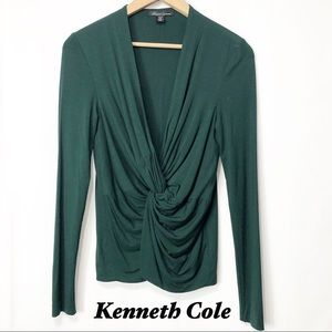 Kenneth Cole Emerald Green V Neck long sleeve SM